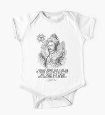 Elizabeth I King Quote Short Sleeve Baby One-Piece