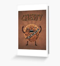 Chewy Chocolate Cookie Wookiee Greeting Card