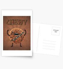 Chewy Chocolate Cookie Wookiee Postcards