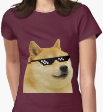 DOGE Womens Fitted T-Shirt