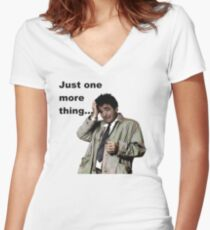 Columbo - Just one more thing Women's Fitted V-Neck T-Shirt