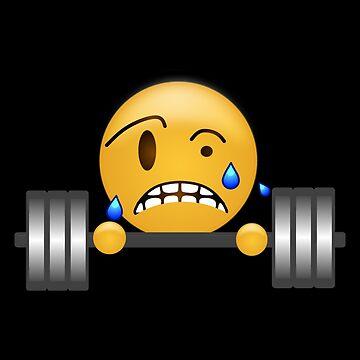 Emoji - Gym Weight Lifting Gainz Emoji by whitneylittrell