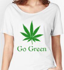 Go Green - Legalize Marijuana Women's Relaxed Fit T-Shirt