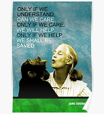 Jane Goodall Quote Poster