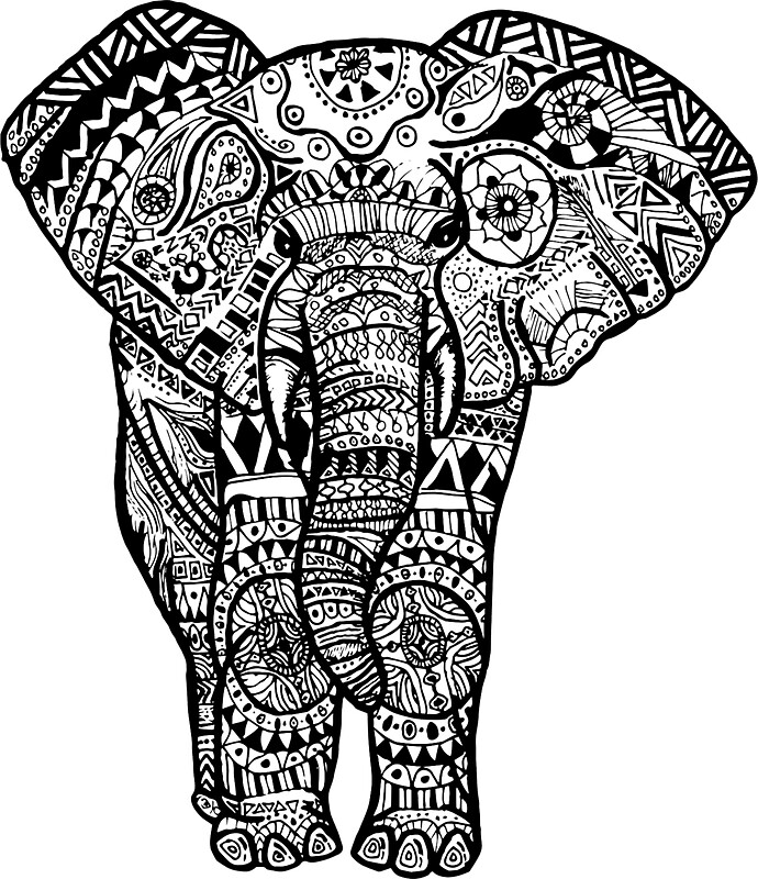 Quot Tribal Elephant Quot Stickers By Baileymincer Redbubble