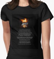 The TWO WOLVES CHEROKEE TALE  Women's Fitted T-Shirt