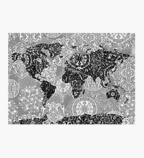 world map mandala 1 Photographic Print
