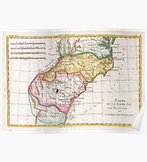 Vintage Map of The Carolinas (1780)  Poster