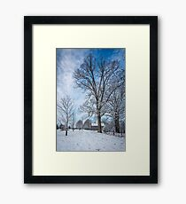 Frosty Blue Framed Print
