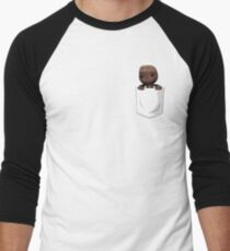 Peeping Sackboy Pocket (White) Men's Baseball ¾ T-Shirt