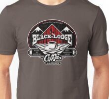 Black Lodge Coffee Company (distressed) Unisex T-Shirt