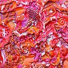 ABSTRACT RED ORANGE RAZZEL DAZZLE  by Nicola Furlong