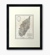 Vintage Map of Corsica (1794)  Framed Print