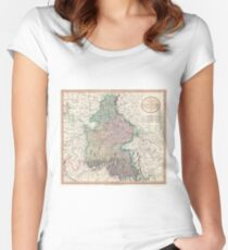 Vintage Map of Bavaria Germany (1799) Women's Fitted Scoop T-Shirt