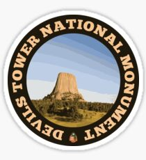 Devils Tower National Monument circle Sticker