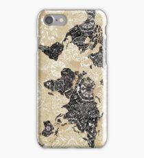 world map mandala 3 iPhone Case/Skin