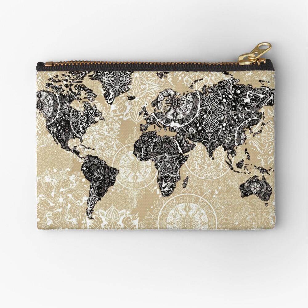 mandala mapa mundial 3 Bolsos de mano