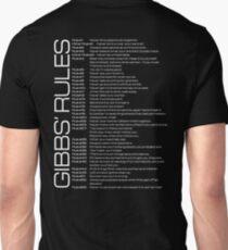 Gibbs' Rules - Updated - White Version - Back Unisex T-Shirt