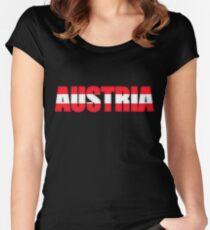 Austria Osterreich Flag  Women's Fitted Scoop T-Shirt