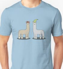 llamas with hats Unisex T-Shirt