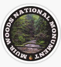 Muir Woods National Monument circle Sticker