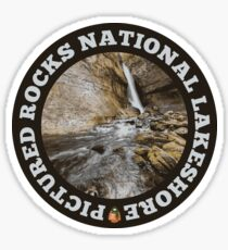 Pictured Rocks National Lakeshore circle Sticker
