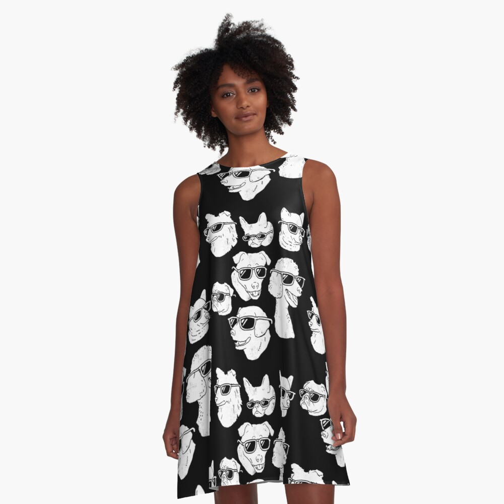 Dog Dogs A-Line Dress