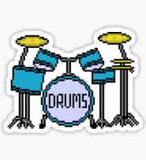 Drums - Pixels Sticker