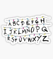 Stranger Things Alphabet Sticker