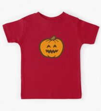 Halloween Jack O' Lantern Pattern in Orange and Black Kids Tee
