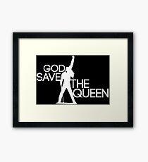 God save the queen Freddie Mercury design Framed Print