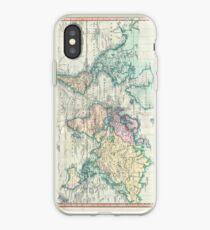 Vinilo o funda para iPhone Mapa vintage del mundo (1801)