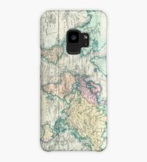 Vintage Map of The World (1801) Case/Skin for Samsung Galaxy