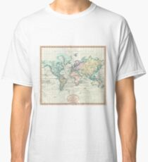 Vintage Map of The World (1801) Classic T-Shirt