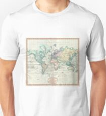Vintage Map of The World (1801) Unisex T-Shirt