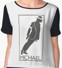 Silueta de el Rey del pop Michael Jackson Chiffon Top