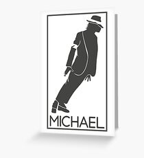 Silueta de el Rey del pop Michael Jackson Greeting Card