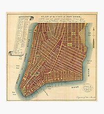 Lámina fotográfica Vintage Map of Lower New York City (1807)
