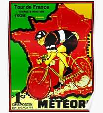 TOUR DE FRANCE; Vintage Cycle Racing Advertising Print Poster