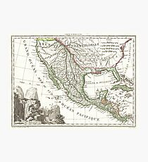 Vintage Map Of Texas And Mexico Territories 1810 Photographic Print