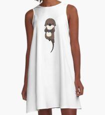 Cute otter holding a shell A-Line Dress