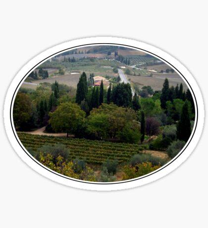 Pienza Landscape Sticker
