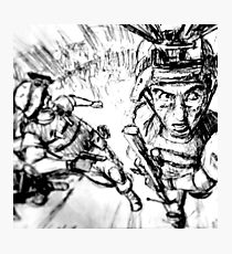 Running Soldier Photographic Print