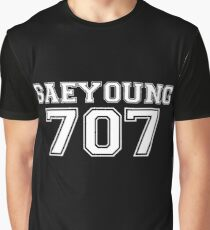 707 Jersey Style (White/Black) Graphic T-Shirt