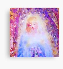 water color,hand painted,angel,beautiful,multi colors,modern,elegant,spiritual art,faith, Canvas Print
