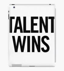 Talent Wins (Black) iPad Case/Skin