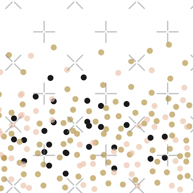 Quot Gold Silver Black Dots Polka Dots White Background Modern