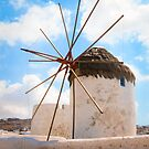 Windmill by the shore by Riko2us
