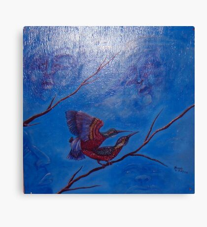 those fuckin birds! Canvas Print