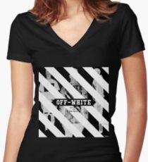 Off White Women's Fitted V-Neck T-Shirt